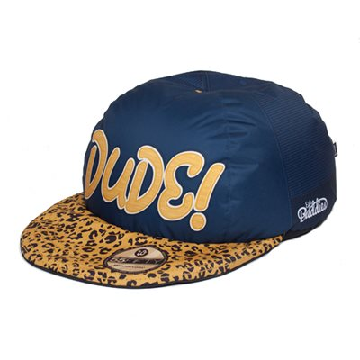 BASEBALL CAP KIDS BEAN BAG in Leopard Print and Navy