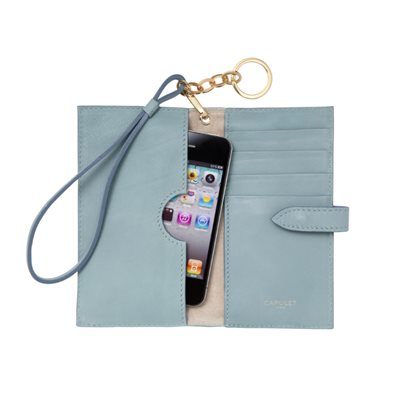 CAPULET LONDON  Emma Phone Wristlet Purse Powder Blue