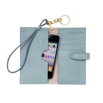 CAPULET LONDON  Emma Phone Wristlet Purse Powder Blue