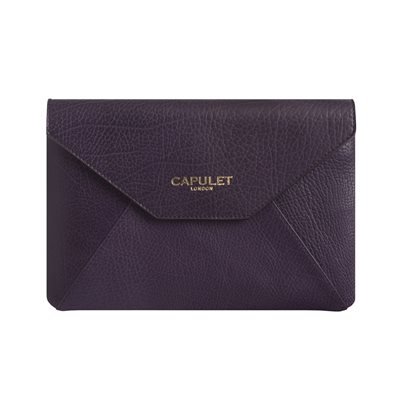 CAPULET LONDON Nancy Kindle Clutch Deep Purple