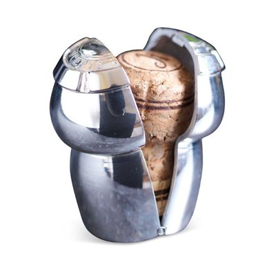 CHAMPAGNE CORK KEEPER in Silver Plating