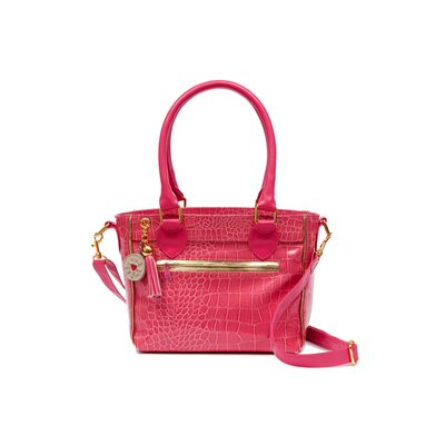 LUNCH COOLER BAG in Pink Mock Croc by Clippy London