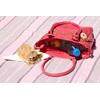 CLIPPY LONDON Pink Mock Croc Chiller Lunch Bag