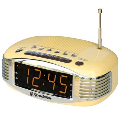ROADSTAR DIGITAL CLOCK RADIO in Cream