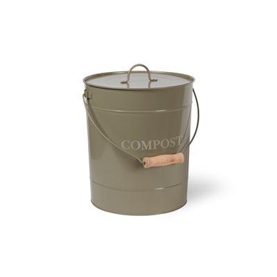 COMPOST BUCKET 10 Litre Bin in Gooseberry by Garden Trading