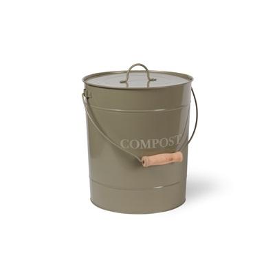 COMPOST BUCKET 10 Litre Bin in Gooseberry by Garden Trading