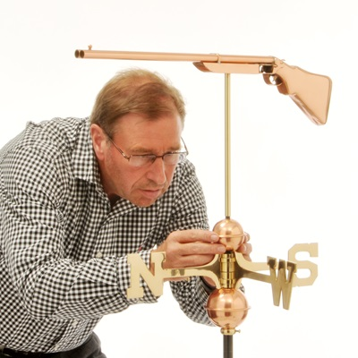 COPPER GAME KEEPER 3D WEATHERVANE