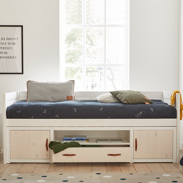 Lifetime Whitewash Bed.Lifetime Kids Cabin Bed With Storage