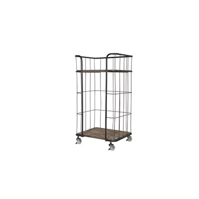 giro industrial trolley storage with 2 shelves by be pure