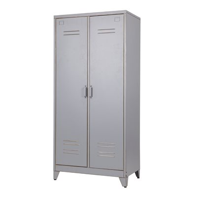 INDUSTRIAL 2 DOOR LOCKER CABINET & Wardrobe by Woood