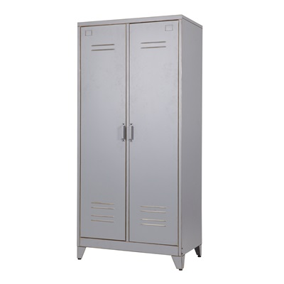 INDUSTRIAL 2 DOOR LOCKER CABINET & Wardrobe