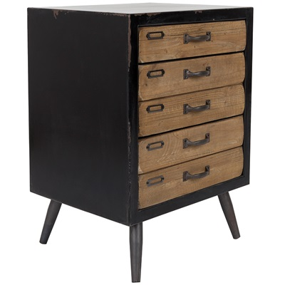 DUTCHBONE SOL MEDIUM VINTAGE STORAGE CABINET with Pine Drawers