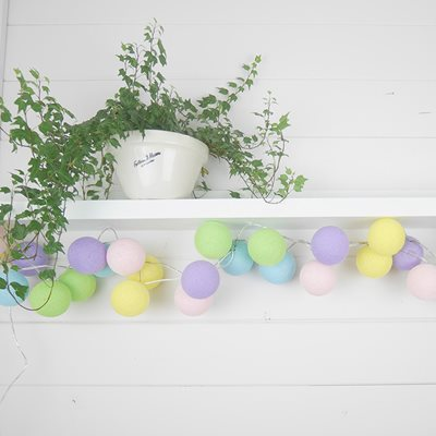 Cable & Cotton Pastel Unicorn Cotton Ball Lights