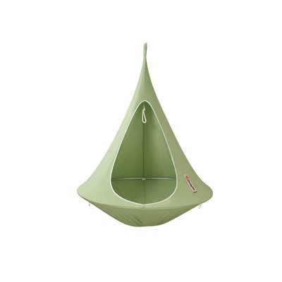 Single Hanging Cacoon in Leaf Green
