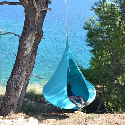 Single Hanging Cacoon in Turquoise