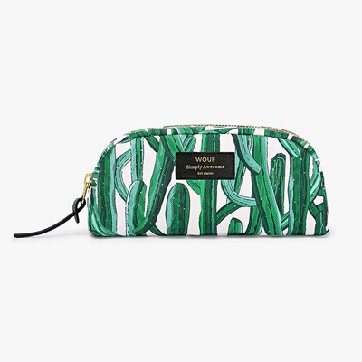 WOUF WILD CACTUS SMALL BEAUTY MAKEUP BAG
