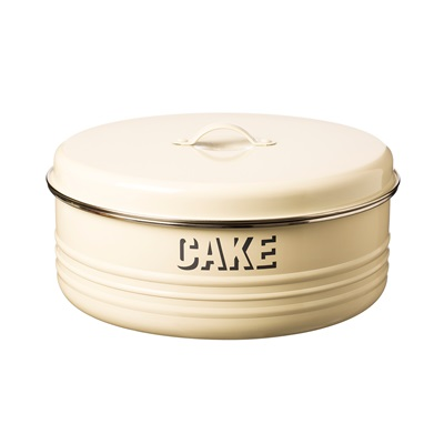 TYPHOON VINTAGE CAKE TIN in Cream