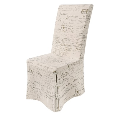 PAIR OF LOOSE COVER DINING CHAIRS in Calligraphy Linen Design