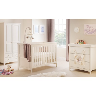 Cameo 2 Piece Nursery Set in Stone White by Julian Bowen