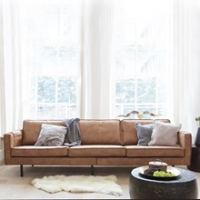 Rodeo 3 Seater Leather Sofa In Tan Be Pure Home Cuckooland