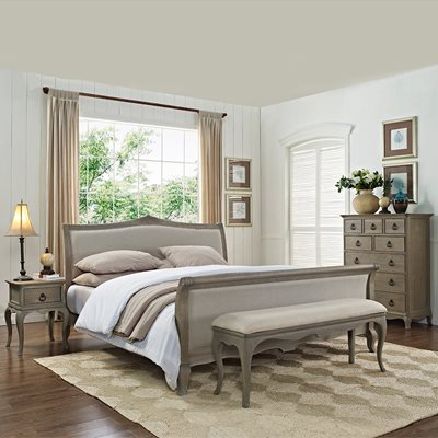 WILLIS & GAMBIER CAMILLE UPHOLSTERED SLEIGH BED FRAME