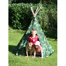 Camouflage-wigwam-with-children-garden-games.jpg