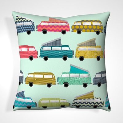 CUSHION in Sky Blue Campervan Design