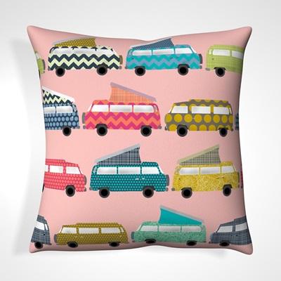 CUSHION in Pink Campervan Design