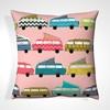 Funky Retro Campervan Designed Pillows
