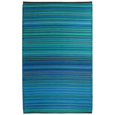 CANCUN OUTDOOR RUG in Blue Stripe