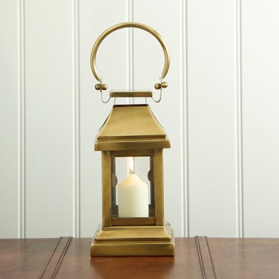 SMALL STATION Lantern in Brass Antique Stainless Steel