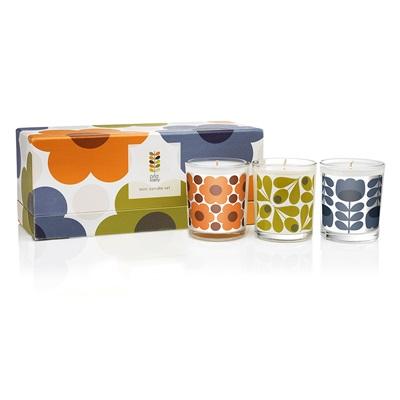 ORLA KIELY Mini 3 Candle Gift Set