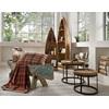 Stylish wooden shelves