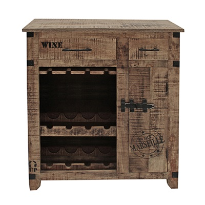 WINE RACK CABINET & STORAGE UNIT in Industrial Style