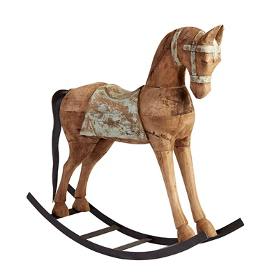 LARGE ROCKING HORSE in Shabby Chic Design