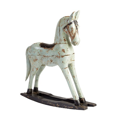 PAINTED ROCKING HORSE in Shabby Chic Design