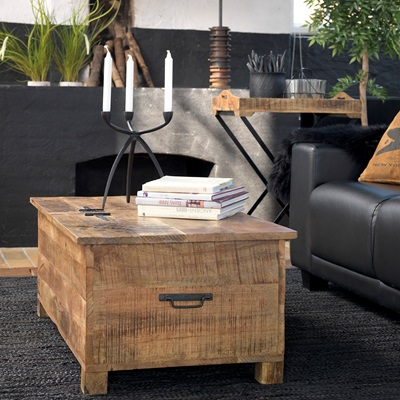 STORAGE COFFEE TABLE in Industrial Style
