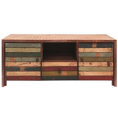 RUSTIC HAITI STORAGE CABINET With Drawer