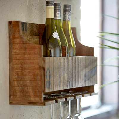WINE RACK & SHELF in Industrial Design