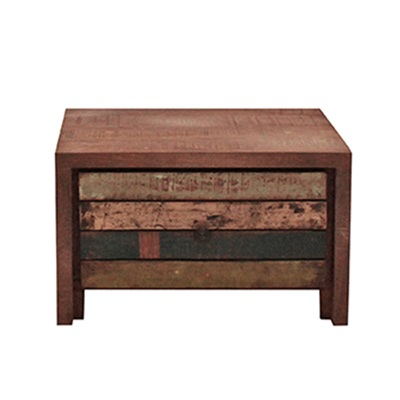 RUSTIC HAITI SMALL WOODEN BEDSIDE TABLE