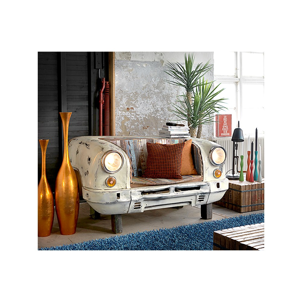 Reclaimed Taxi Bench Amp Lounge Chair Canett Furniture Cuckooland