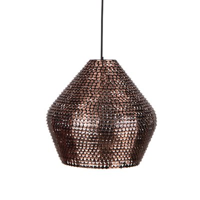 CARAFE HANDMADE CEILING LIGHT in Sparkling Copper Finish