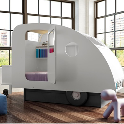 Mathy by Bols Caravan Bed available in 27 Colours