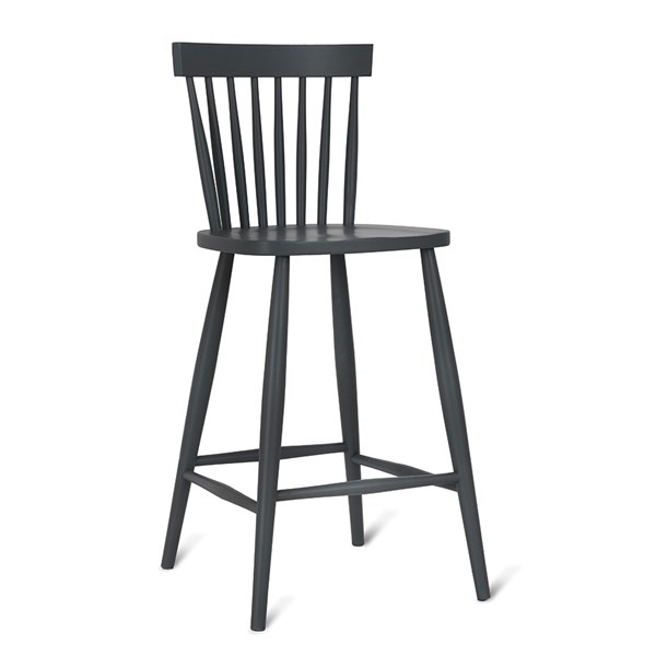 Garden Trading Spindle Bar Stool in Carbon