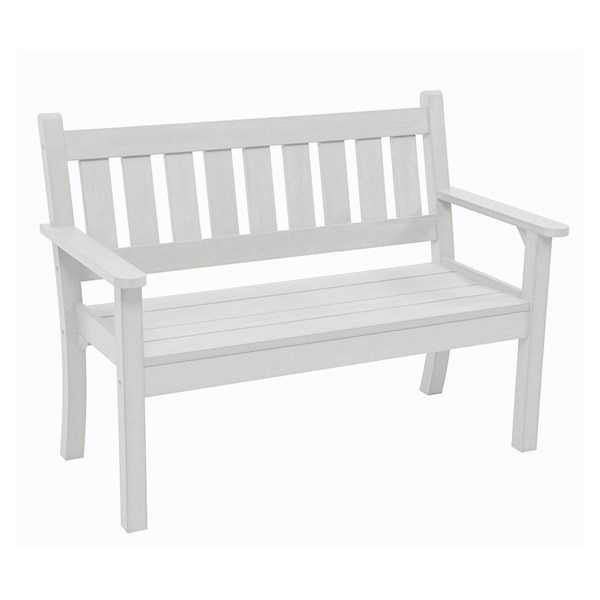 Carefree 3 Seat Bench in White