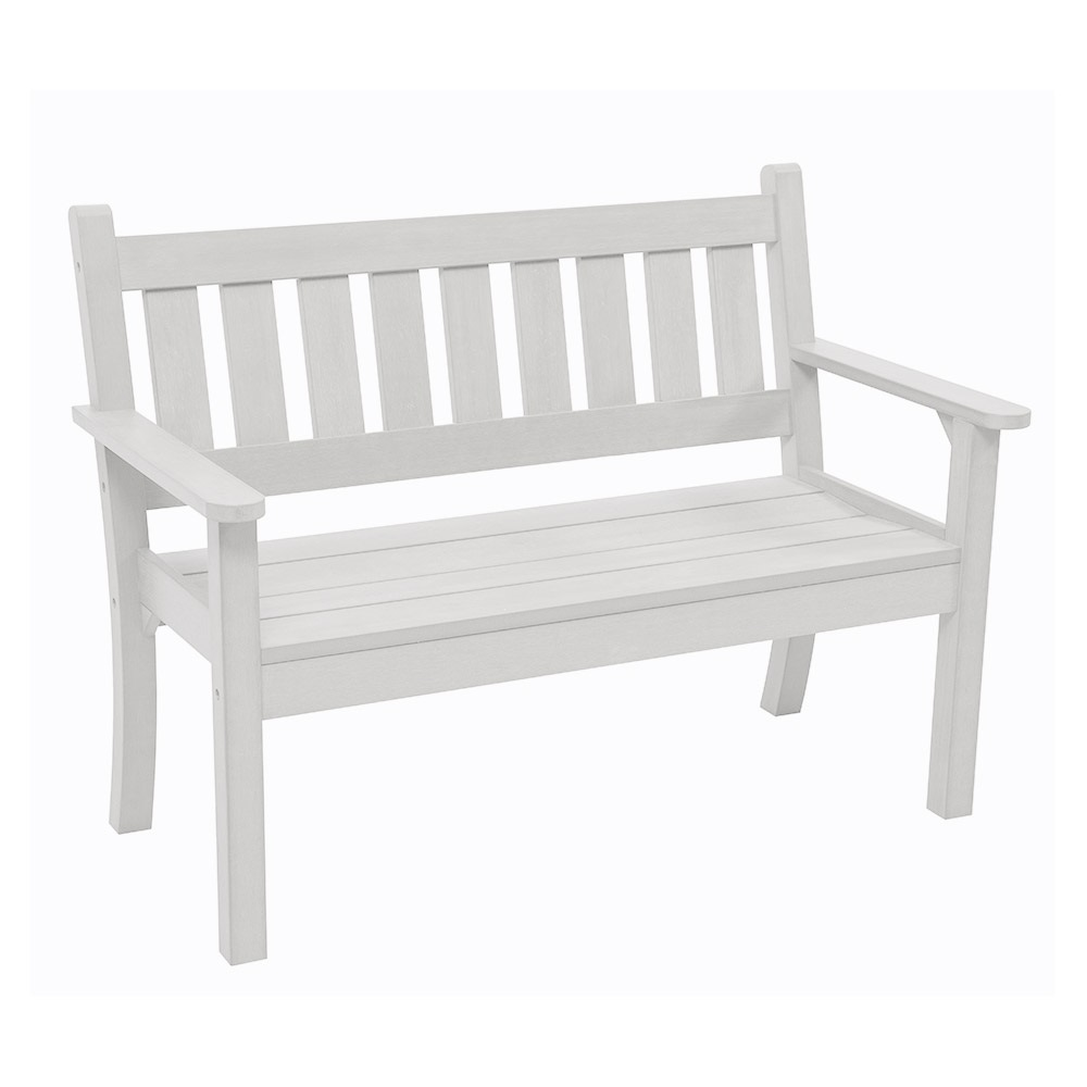 Carefree 3 Seat Bench In White Garden Benches Cuckooland