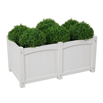 CAREFREE RECTANGULAR PLANTER in White