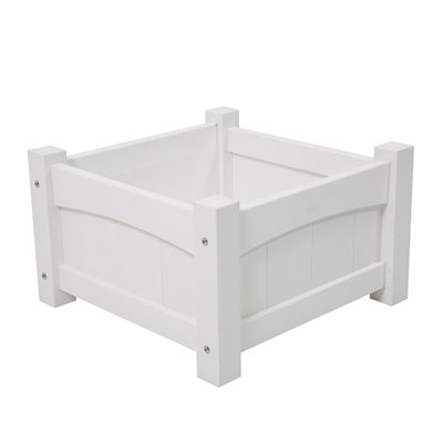 CAREFREE SQUARE PLANTER in White