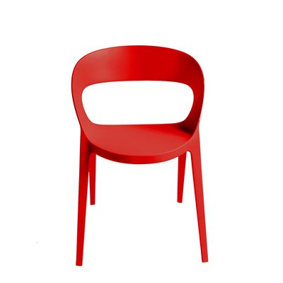 CARLA RESIN CHAIR in Red