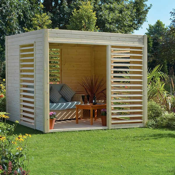 Carmen Pavilion Garden Cabin & Summer House in Natural Timber